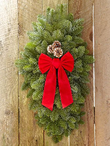 S4 Noble Fir Door Swag ($26)