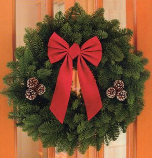 "W2 22"" Noble Fir Wreath ($25)"