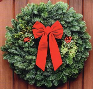 "W3 28"" ($36) or W4 22"" ($28) Mixed Evergreen Wreath"